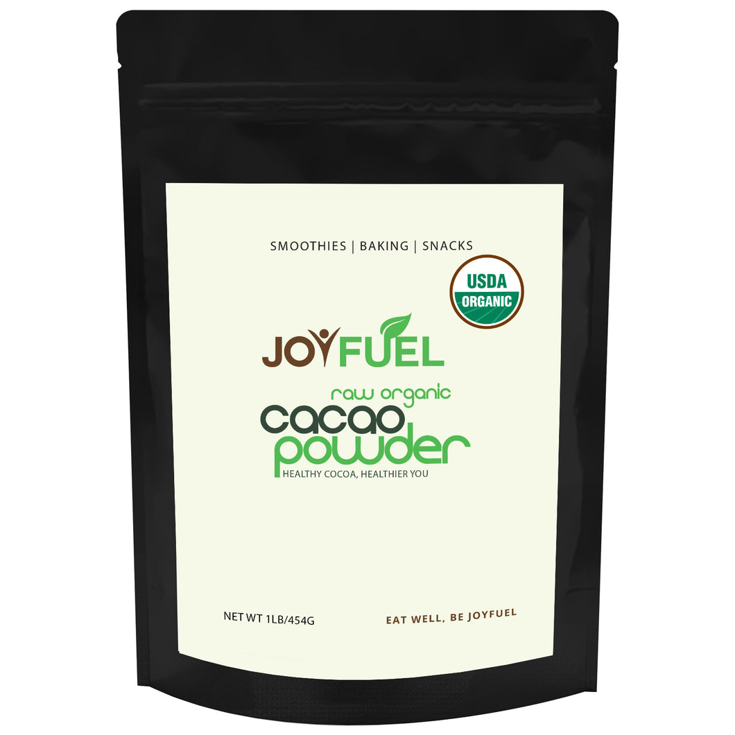 Joyfuel Raw Organic Cacao Powder (3 Sizes: 16oz & 32oz & 5LB)