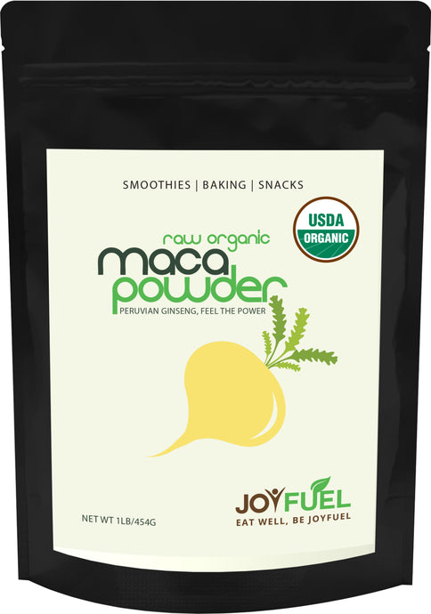 Joyfuel Raw Organic Maca Powder (2 Sizes: 16oz & 32oz)