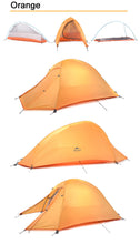 1 Person Teepee Tent Double-Layer Ultralight Folding Tent Waterproof Camping Tents