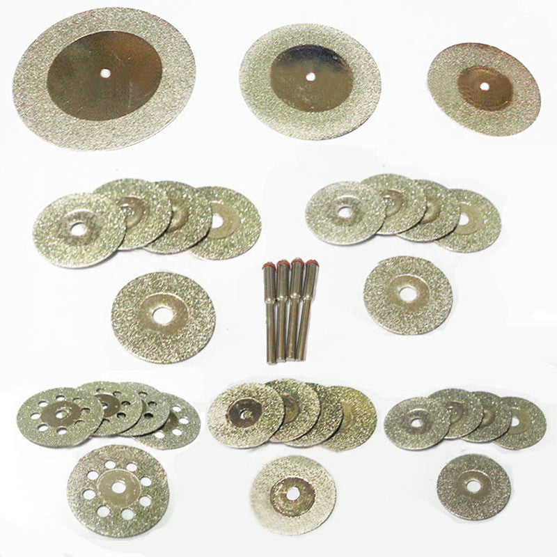 Mini Rotary Tool diamond grinding wheel, cutting disc, mini saw blade and polishing stone accessory set