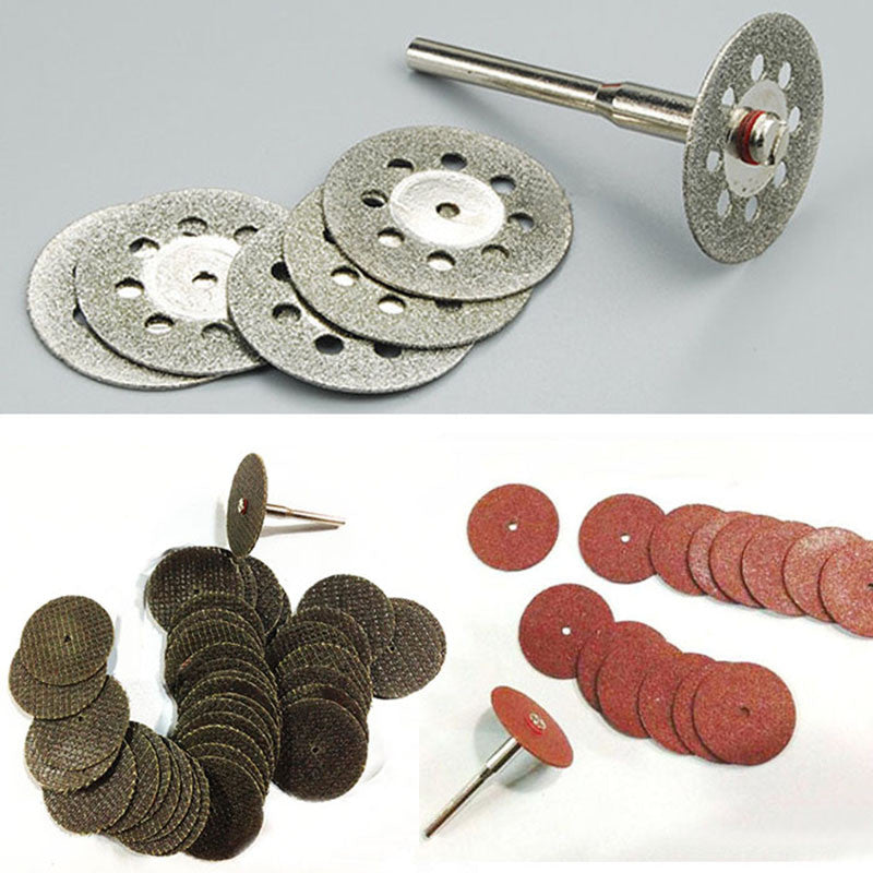 Mini Rotary Tool 55pcs cutting, grinding wheel diamond discs and cut-off blades.