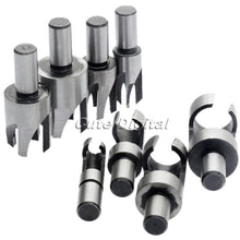 Wood Plug Cutter Cutting Tool 8Pcs/set Carbon Steel Bits, Straight & Tapered Set Round Shank