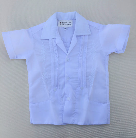 Baby Guayabera Yucatan Mexico in Sizes 1T, 2T, 4T