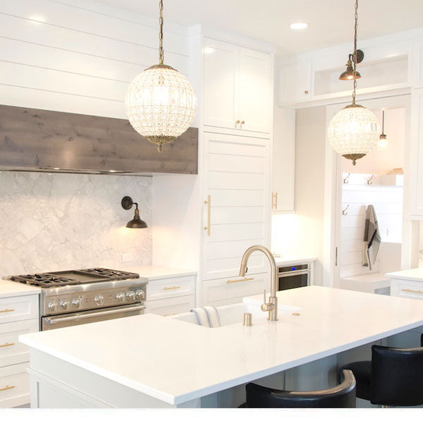 Accents and Accessories for an All-White Kitchen