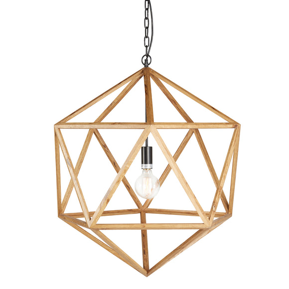 Geometric Wood Chandelier