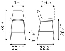 Load image into Gallery viewer, Solden Bar Chair - White