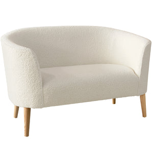 Clara Settee in Sheepskin Natural