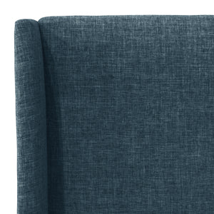 McCarty Wingback Bed in Navy