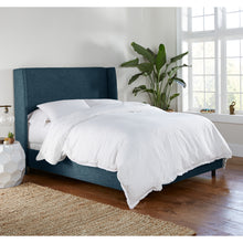 Load image into Gallery viewer, McCarty Wingback Bed in Navy