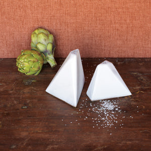 Pyramid Salt & Peppers Shakers