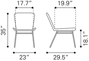 Spruce Dining Chair (S2) - Black
