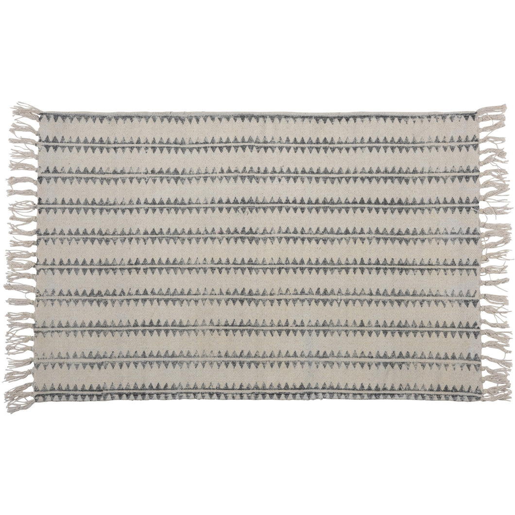 Sawtooth Bath Rug