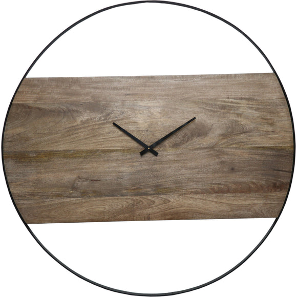 Large Woodsy Wall Clock