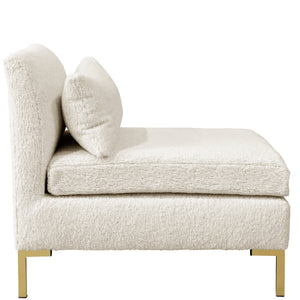 Amelia Armless Chair in Sheepskin Natural