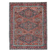 Load image into Gallery viewer, Piste Rust/Aqua Rug