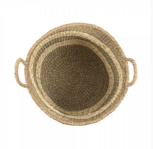 Striped Basket with Handle (S/2)