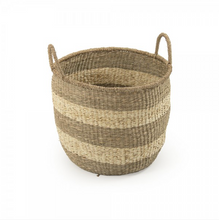 Load image into Gallery viewer, Striped Basket with Handle (S/2)