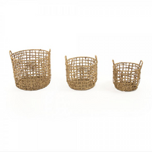Load image into Gallery viewer, Water Hyacinth Baskets (S/3)