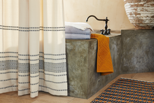 Load image into Gallery viewer, Coyuchi Rippled Stripe Organic Shower Curtain