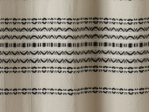 Coyuchi Rippled Stripe Organic Shower Curtain