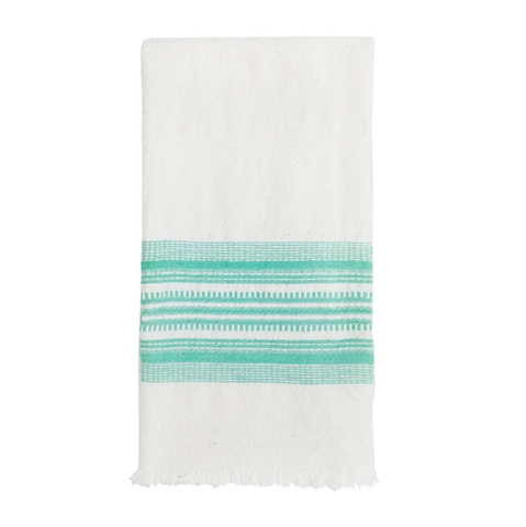 White and Mint Kitchen Towel