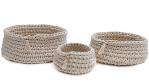Handwoven Baskets (S/3)