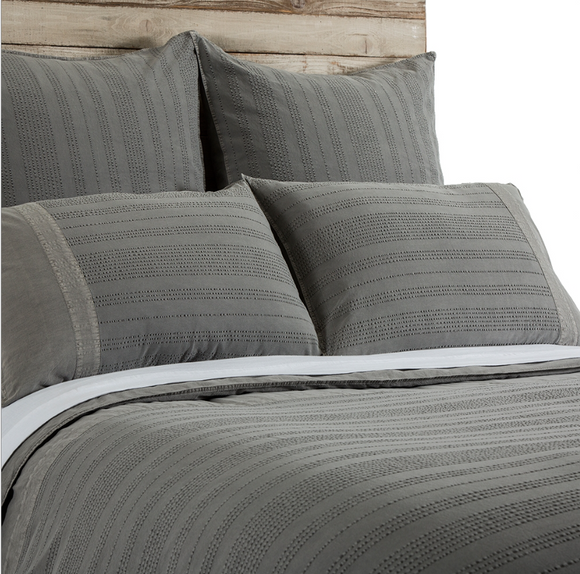 Quinn Duvet and Sham - Grey