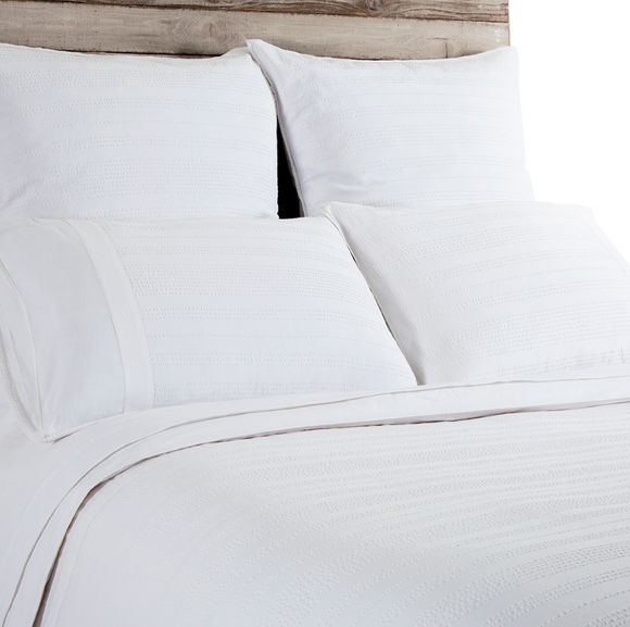 Quinn Duvet and Sham - White