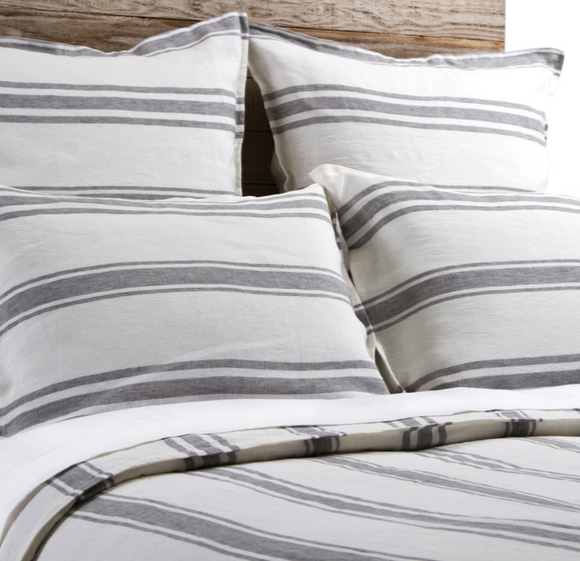 Jaxon Duvet and Sham - Cream/Grey