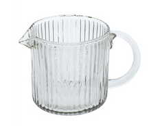 Load image into Gallery viewer, Ribbed Glass Pitcher