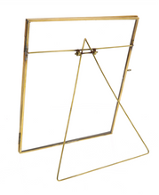 Load image into Gallery viewer, Brass Easel Frame - Vertical