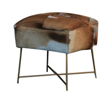 Load image into Gallery viewer, Cowhide Stool
