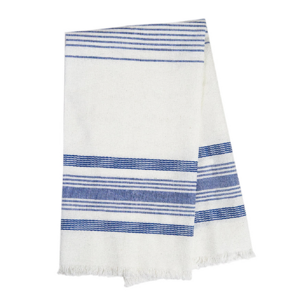White and Blue Kitchen Towel
