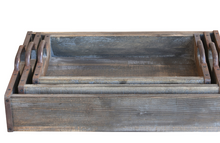 Load image into Gallery viewer, Rustic Wood Trays (S/3)