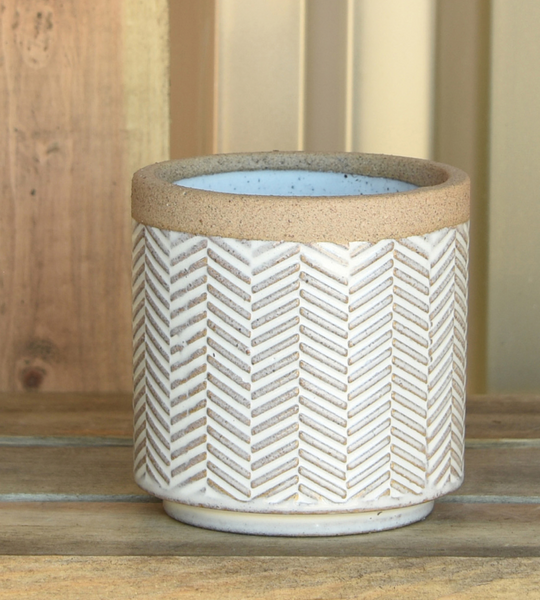 Banded Chevron Planter - 3 sizes