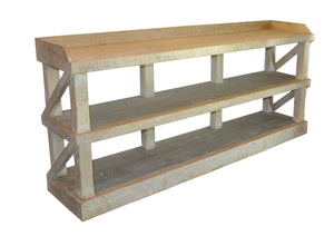 Reclaimed Lumber Low Bookshelf