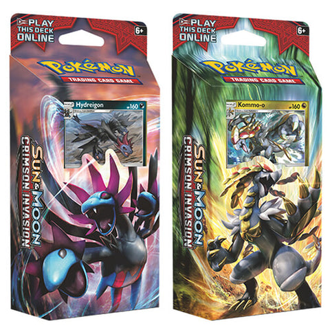 Sun & Moon Crimson Invasion Theme Twin Deck Set