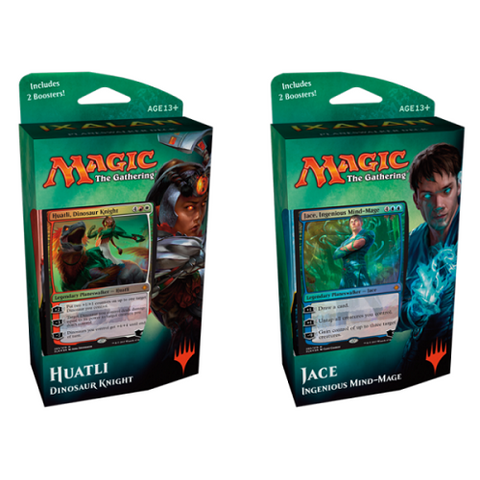 Huatli Dinosaur Knight & Jace Ingenious Mind-Mage Planeswalker Deck Twin Pack