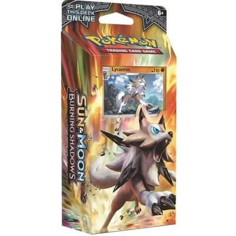 Sun & Moon Burning Shadows Lycanroc Theme Deck