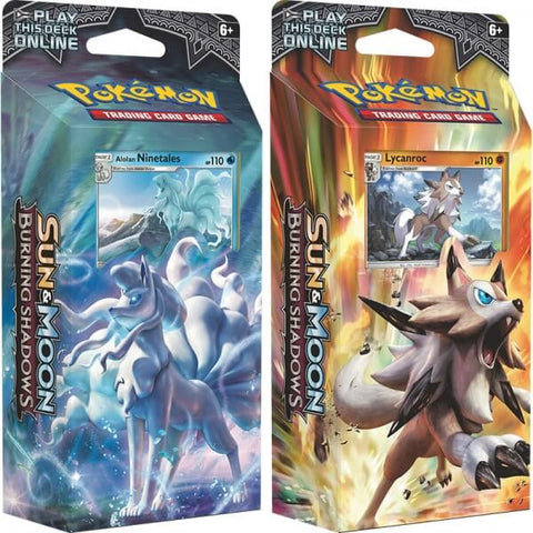 Sun & Moon Burning Shadows Theme Twin Deck