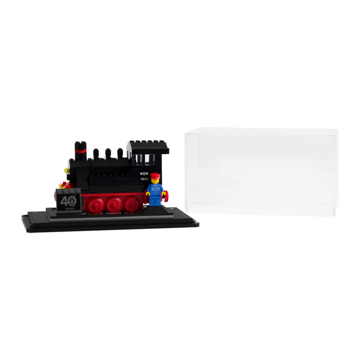 Display case for LEGO Trains 40th anniversary set (40370) - Wicked Brick