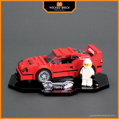 Display solutions for LEGO Speed Champions: Ferrari F40 (75890) - Wicked Brick
