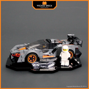 Display solutions for LEGO Speed Champions: McLaren Senna (75892) - Wicked Brick