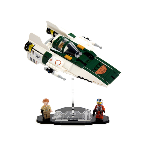 Display solutions for LEGO Star Wars: Resistance A-Wing (75248) - Wicked Brick