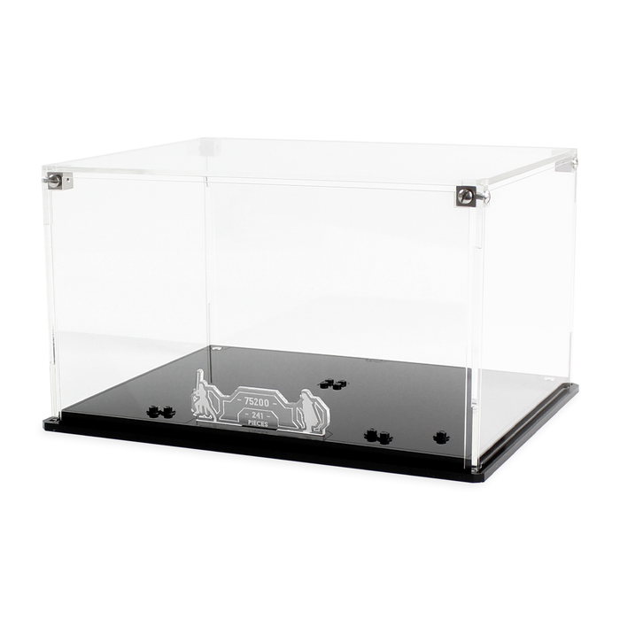 Display case for LEGO Star Wars: Ahch-To Island Training (75200)