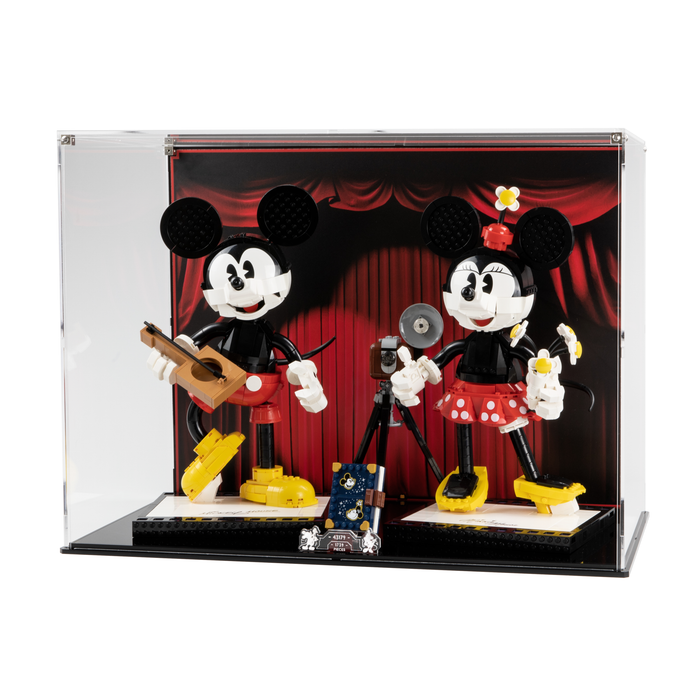 Display case for LEGO Mickey and Minnie Mouse 43179