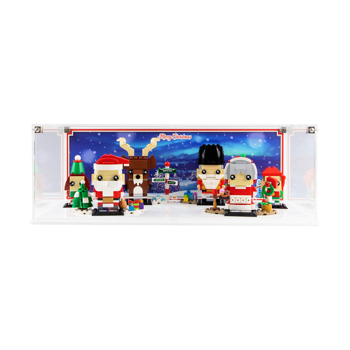 Limited Edition display case for LEGO Brickheadz Christmas sets (40353, 40274 & 40425)