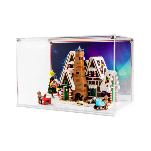 Display case for LEGO Creator: Gingerbread House (10267) - White Base