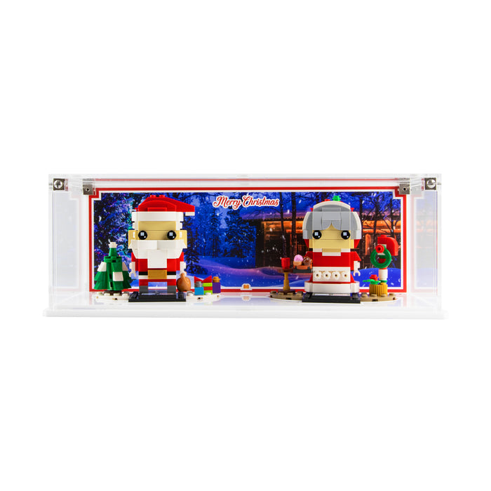 Limited Edition display case for LEGO Brickheadz: Mr. & Mrs. Claus set (40274)