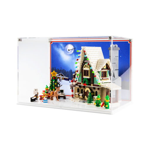 Display case for LEGO: Elf Club House (10275) - White Base